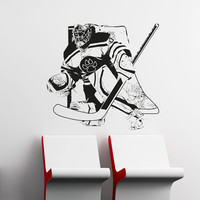 Vinyl Wall Decal Sticker Hockey Goalie #5090