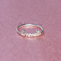 Unique Name Ring- Personalized Ring - Letter Ring - Mother's Day Gifts - 18K Gold Plated