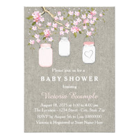 Burlap Mason Jar Baby Girl Shower
