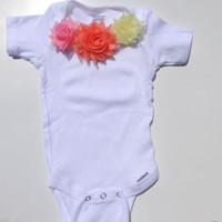 Baby girl Onesuit, Baby flower Onesuit, Girl Easter bodysuit, Baby decoated Onesuit, Size 3/6 months, 12 months, 18 months,  Baby girl clothes