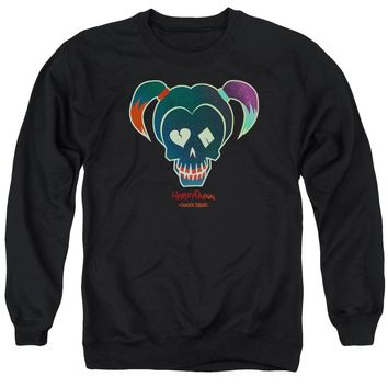 Suicide Squad - Harley Skull Adult Crewneck Sweatshirt Officially Licensed Apparel