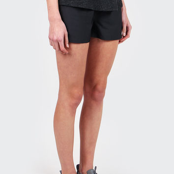 Bonded Woven Shorts - black/black/white