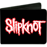 Slipknot Men's Slipknot  People=Shit Bar Code Black/Red/White Bi-Fold Wallet
