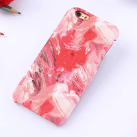Red oil painting mobile phone case for iphone 5 5s SE 6 6s 6 plus 6s plus + Nice gift box 71501