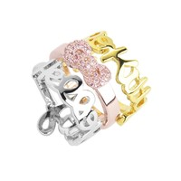 Hello Kitty Stackable Ring Set