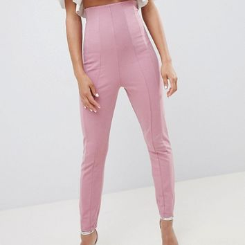 ASOS DESIGN skinny PANTS with super high waist at asos.com