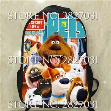Cartoon Animal Puppy The Secret Life of Pets Backpack Boys Girls School Bags Children Mochila Infantil Kids Bunny Backpacks