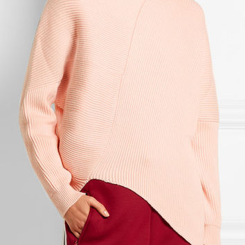 Stella McCartney - Asymmetric ribbed wool sweater