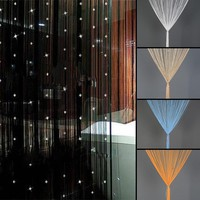 1 pc  Elegant Crystal Low-elastic Beaded String Door Curtains yarn String Curtain Door Window Crystal Beads Curtain Beautiful 45