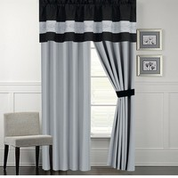 Sherman Black and Gray Curtain Set
