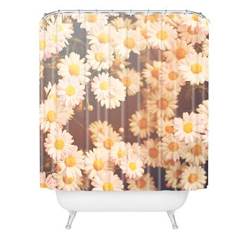 Bree Madden Faded Daisy Shower Curtain