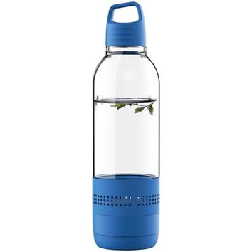 SYLVANIA SP650-BLUE Water Bottle with Integrated Bluetooth(R) Speaker (Blue)