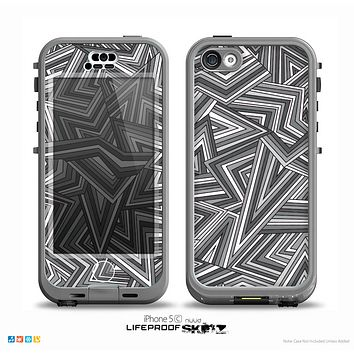 The Jagged Abstract Graytone Skin for the iPhone 5c nüüd LifeProof Case