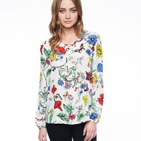 Tangled Garden Silk Top by Juicy Couture