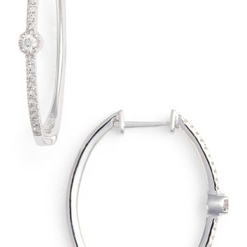 Bony Levy Mila Diamond Station Hoop Earrings (Nordstrom Exclusive) | Nordstrom