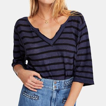 Free People Head in the Clouds Striped Top & Reviews - Tops - Women - Macy's
