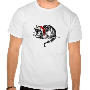 Cheshire Cat Christmas Santa Shirt