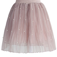 Pearly Stars Tulle Skirt in Pink Pink S/M