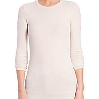 ATM Anthony Thomas Melillo - Micro-Ribbed Crewneck Top - Saks Fifth Avenue Mobile