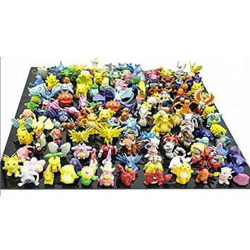 CNFT Pokemon Action Figures, 144-Piece, 2-3 cm