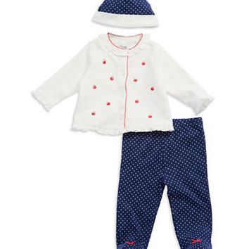 Little Me Baby Girls Three-Piece Apple Set