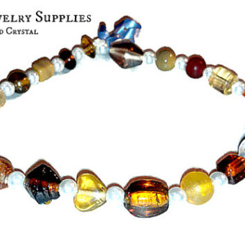 Beads 40 Ct ; Jewelry Supplies, High Quality, Beautiful, Crystal Beads, Crystal  Pearl Spacers,  Hues of Honey, Chocolate, Fudge,&Caramel