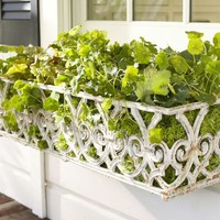 White Gate Window Box | Pottery Barn