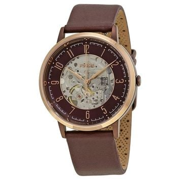 Fossil Vintage Muse Skeleton Dial Automatic Mens Watch ME3137
