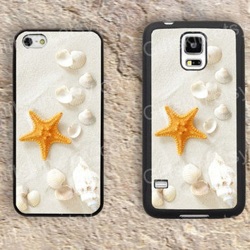 Beach beach starfish iphone 4 4s iphone  5 5s iphone 5c case samsung galaxy s3 s4 case s5 galaxy note2 note3 case cover skin 173