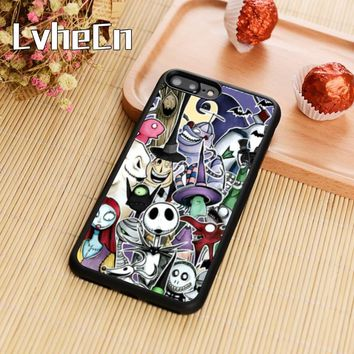 LvheCn The Nightmare Before Christmas Jack Phone Case Cover For iPhone 5s SE 6 6s 7 8 plus 10 X Samsung Galaxy S6 S7 edge S8 S9