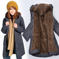 Loose plus size coat clothing women's fertilizer coats winter fashion 2014 long jacket women outerwear 6XL medium-long xxxxxxl/1266271KKNN1571 = 1958475652
