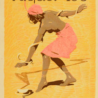 1926 Lithograph Ludwig Hohlwein Riquet Tee Tea Nude Woman German Poster Art Ad