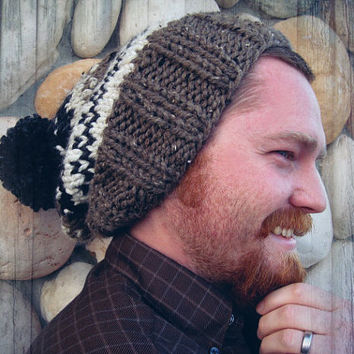 The Ainsley hat In neutral fair isle print by Nolie9238 on Etsy