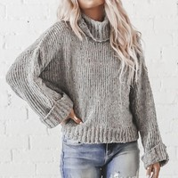 Sugar Baby Gray Chenille Confetti Sweater