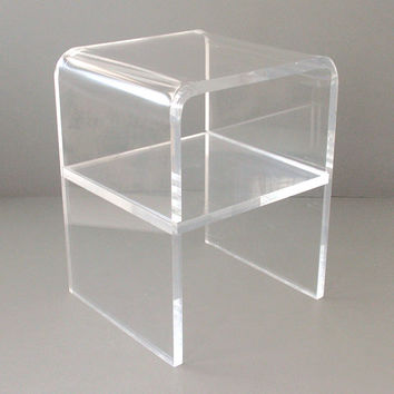 Mid-Century Lucite Waterfall Side Table
