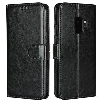 Wallet Cases For Samsung Galaxy S9 Plus S9+ S9plus Leather Case Soft Cover Cell Phone Accessory Coque Etui Capinha Hoesje Capa