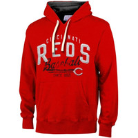 Cincinnati Reds Field Goal Poly-Sueded Fleece Hoodie – Red