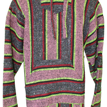 (XL) Baja Pullover - Gray/Pink/Neon