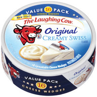 Walmart: The Laughing Cow Original Creamy Swiss Cheese Wedges, 16 count, 12 oz