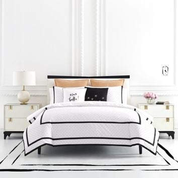 kate spade new york dot frame duvet cover & sham set | Nordstrom