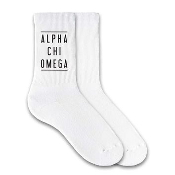 Alpha Chi Omega Sorority Double Lines