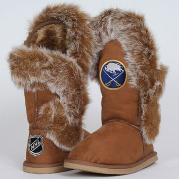 Cuce Shoes Buffalo Sabres Ladies The Fanatic Boots - Tan - http://www.shareasale.com/m-pr.cfm?merchantID=7124&userID=1042934&productID=537992263 / Buffalo Sabres
