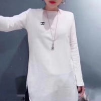 Chanel Cotton round neck long-sleeved sweater street women
