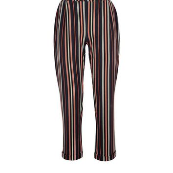 Multi Coloured Stripe Trousers | New Look