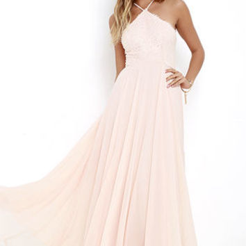 Everlasting Enchantment Light Peach Maxi Dress