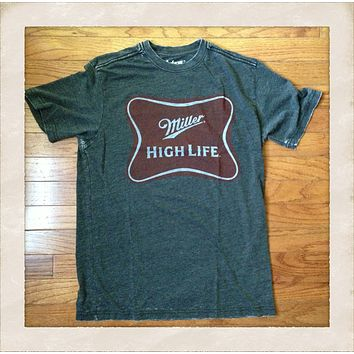 Vintage Inspired Miller High Life Mens Tee Shirt