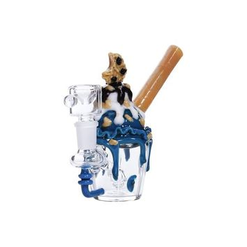 Empire Glassworks Cookie Monster Sundae Mini Bubbler | Grasscity