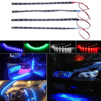 Waterproof 15 LED 30cm Car Styling super white blue red waterproof flexible Car Light Daytime Running Lights  DRL Soft Strips