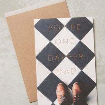Dapper Dad Card by Anthropologie in Black & White Size: One Size Books