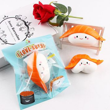 Sushi Scented Squeeze Slow Rising Fun Toy Relieve Stress Cure Little Cute Gift Home Car Desk Decoration Play Hand Toys